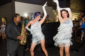 8_Saxophonist Kareem Wilkes with Flapper dancers