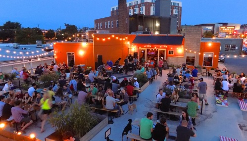 DBC Beer garden from above